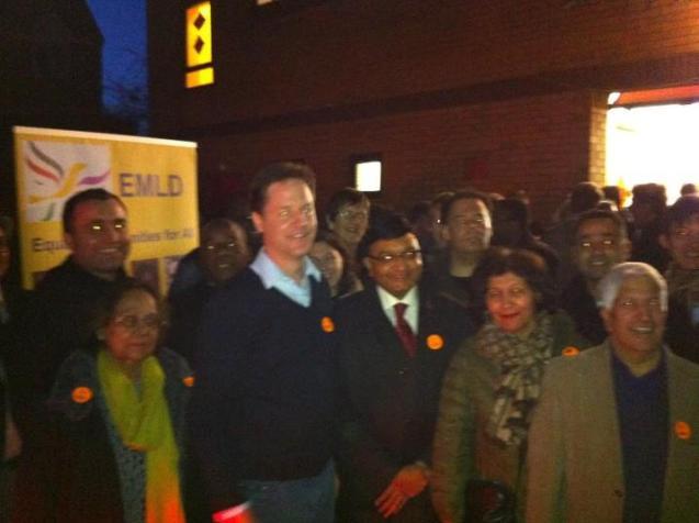 Nick Clegg and EMLD members
