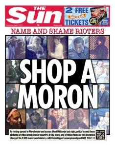 Typical coverage of the 2011 London riots
